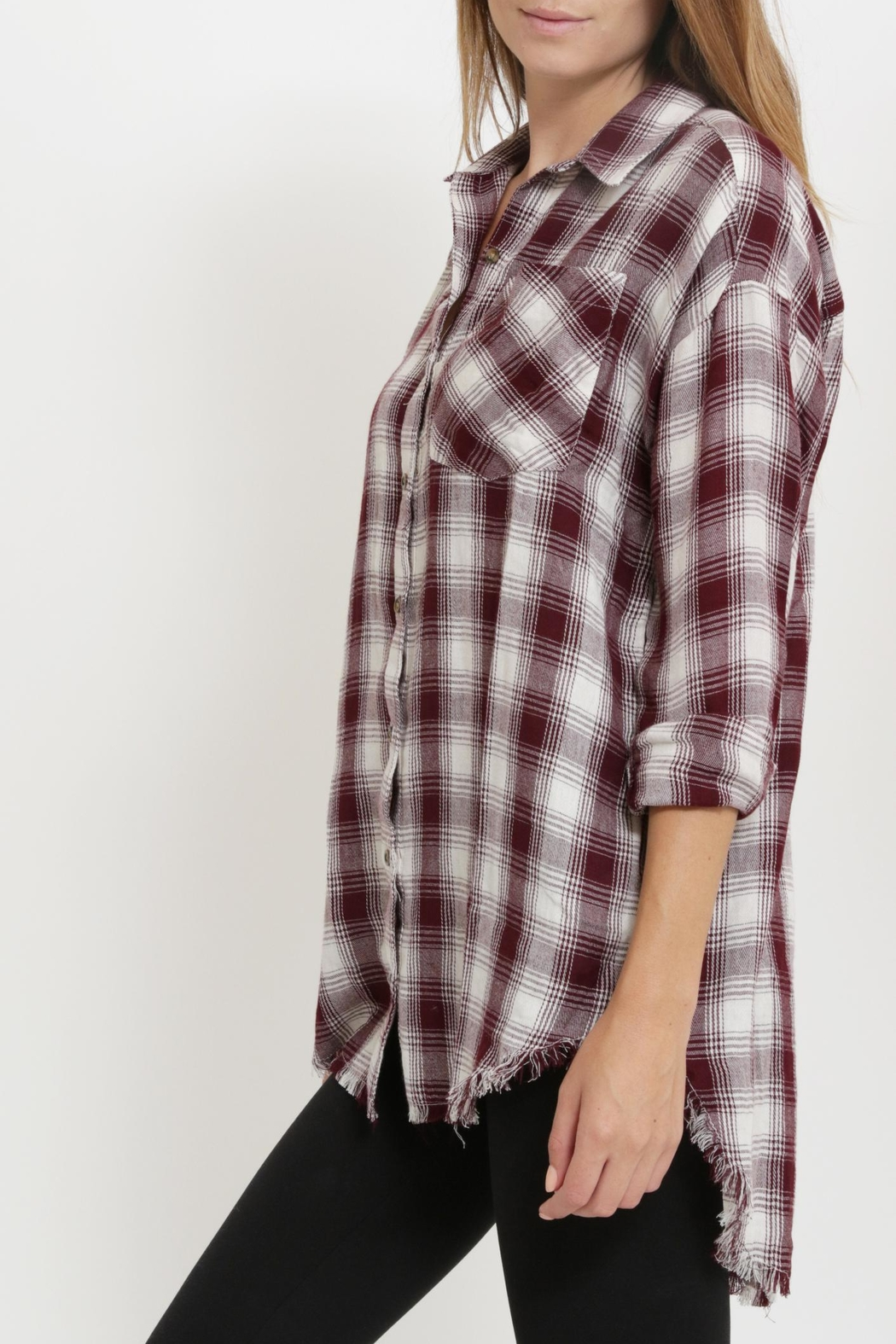 1 Funky Plaid Casual  Shirt - Side Cropped Image