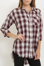 1 Funky Plaid Casual  Shirt - Front full body