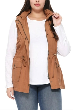 1 Funky Plus Size Military Vest - Alternate List Image