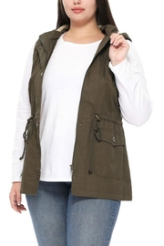 1 Funky Plus Size Military Vest - Front full body