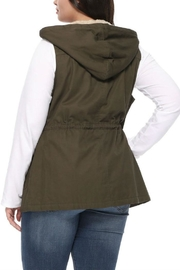 1 Funky Plus Size Military Vest - Side cropped