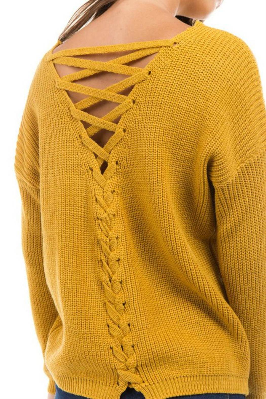1 Funky Roundneck Frontback Lace - Front Cropped Image