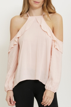 1 Funky Pink Cold Shoulder Blouse - Product List Image
