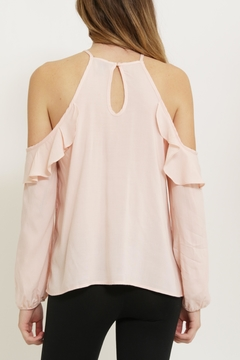 1 Funky Pink Cold Shoulder Blouse - Alternate List Image