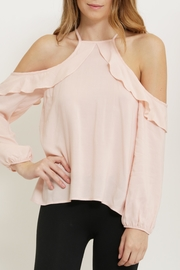 1 Funky Pink Cold Shoulder Blouse - Front full body