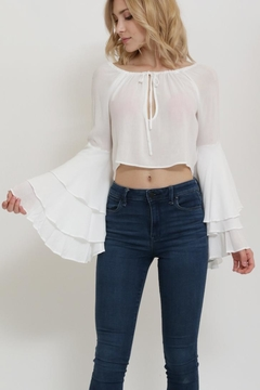 1 Funky Ruffle Sleeve Top - Alternate List Image