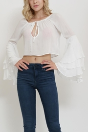 1 Funky Ruffle Sleeve Top - Product Mini Image