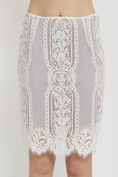 Shoptiques Product: Lace Pencil Skirt