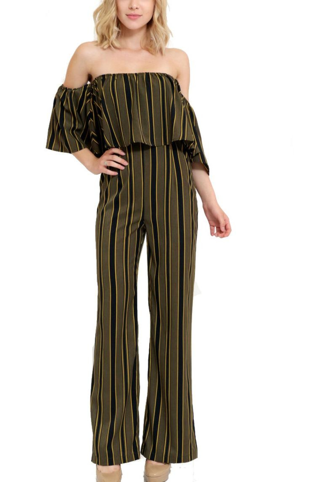 1 Funky Striped Jumpsuit From California By Yuni Shoptiques