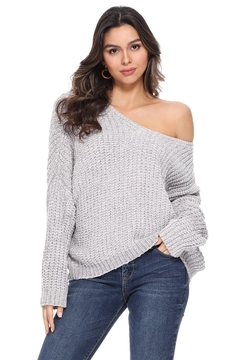 1 Funky Women Vneck Sweater - Alternate List Image
