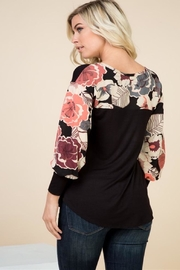 1 Mad Fit Floral Sleeve Top - Front full body