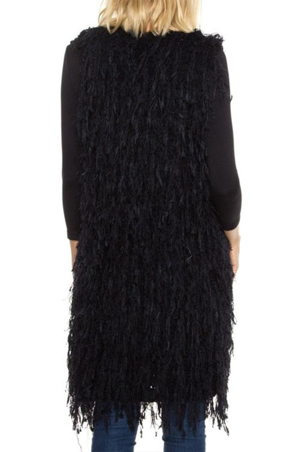 1 Mad Fit Long Sweater Vest - Side Cropped Image