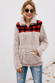 1 Mad Fit Plaid Puffy Pullover - Product Mini Image
