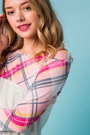 1 Mad Fit Plaid Side-Twist Top - Side cropped