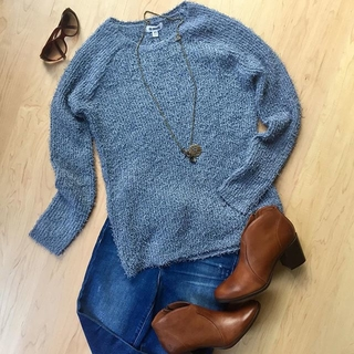 Shoptiques Product: Blue Knit Sweater