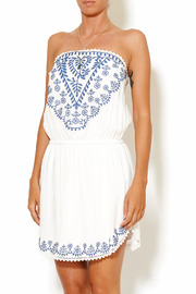 y&i clothing boutique Embroidered Tube Dress - Front cropped