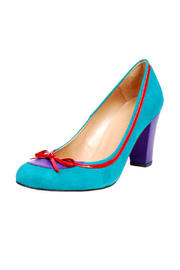 Shoptiques Product: Turquoise Suede Heels