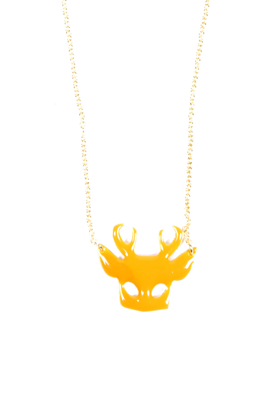 f_licie aussi Enamel Deer Mask Necklace - Main Image