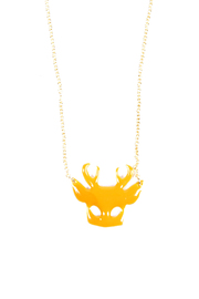 f_licie aussi Enamel Deer Mask Necklace - Product Mini Image