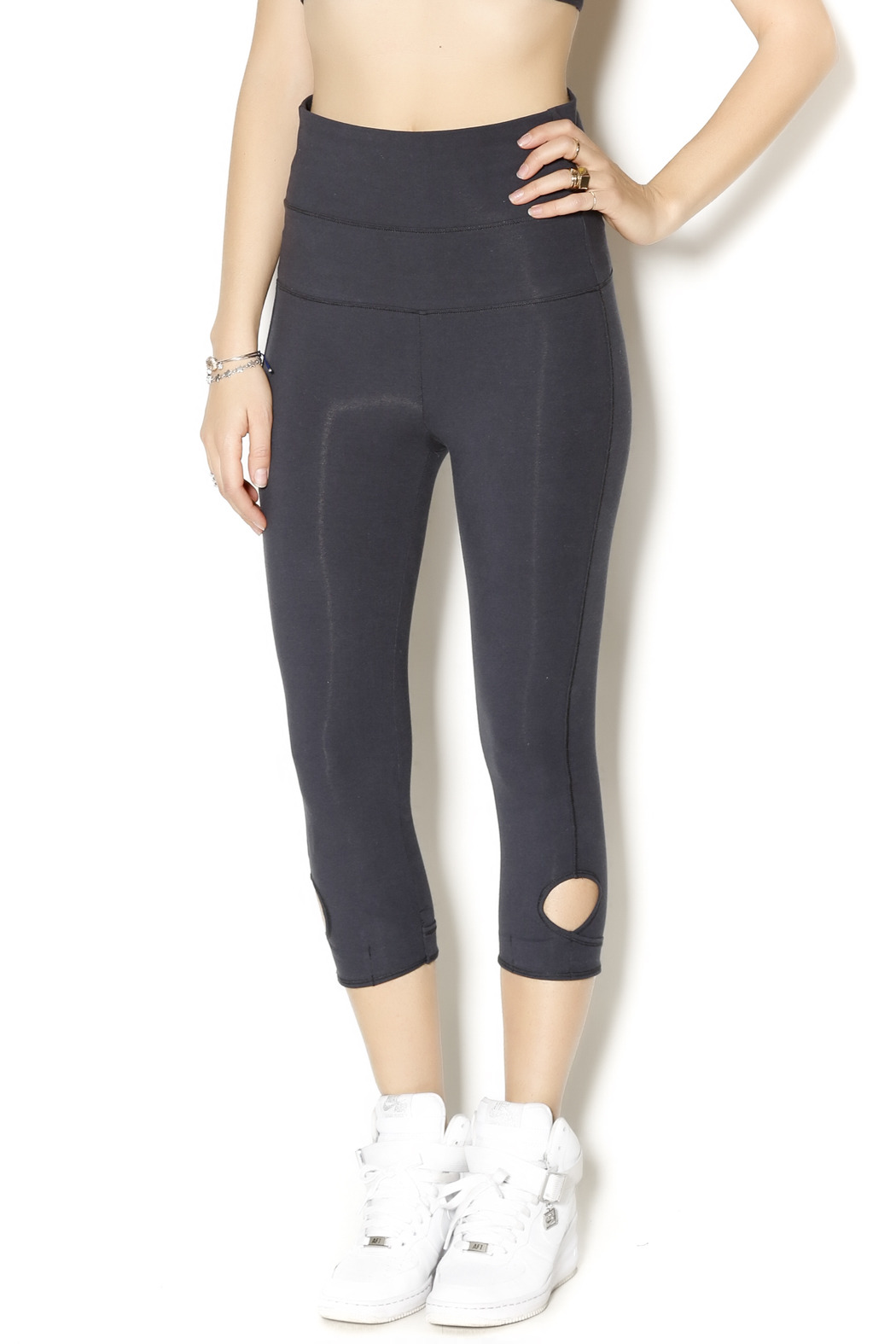 Alternative Apparel Lean Into It Legging - Front Cropped Image
