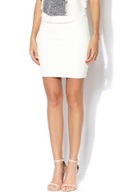 Bardot Leather Look Mini Skirt - Front cropped