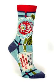 Blue Q Compusively Awesome Socks - Front cropped