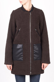 Members Only Faux Sherpa Boxy Coat - Product Mini Image