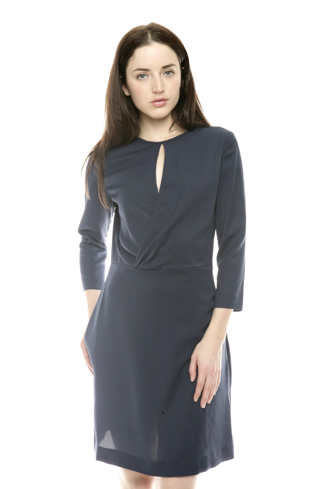 Moon Wrap Front Cocktail Dress - Main Image