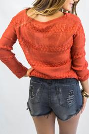 Italiagogo Rust Orange Sweater - Side cropped