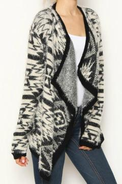 Shoptiques Product: Fuzzy Tribal Cardigan