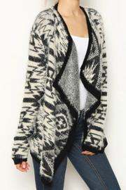 Leshop Fuzzy Tribal Cardigan - Product Mini Image