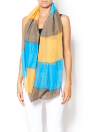 Shoptiques Product: Blue Tie Dye Scarf