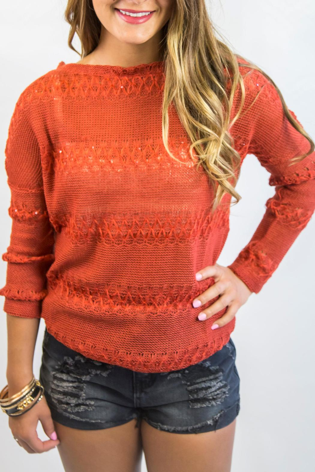 Italiagogo Rust Orange Sweater - Front Full Image
