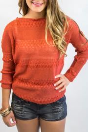 Italiagogo Rust Orange Sweater - Front full body