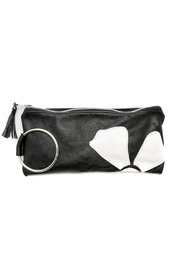 Vickie Wilson Leather Flower Clutch - Front cropped