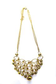 Creative Treasures Gold Chandelier Necklace - Front cropped