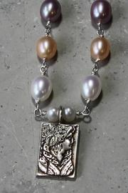 Lily Chartier Pearls Sterling Cameo Necklace - Front full body