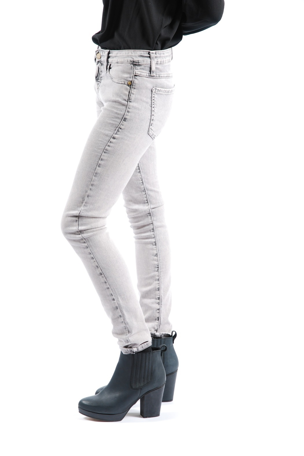 Acquaverde Colored Scarlett Skinny Jeans - Side Cropped Image