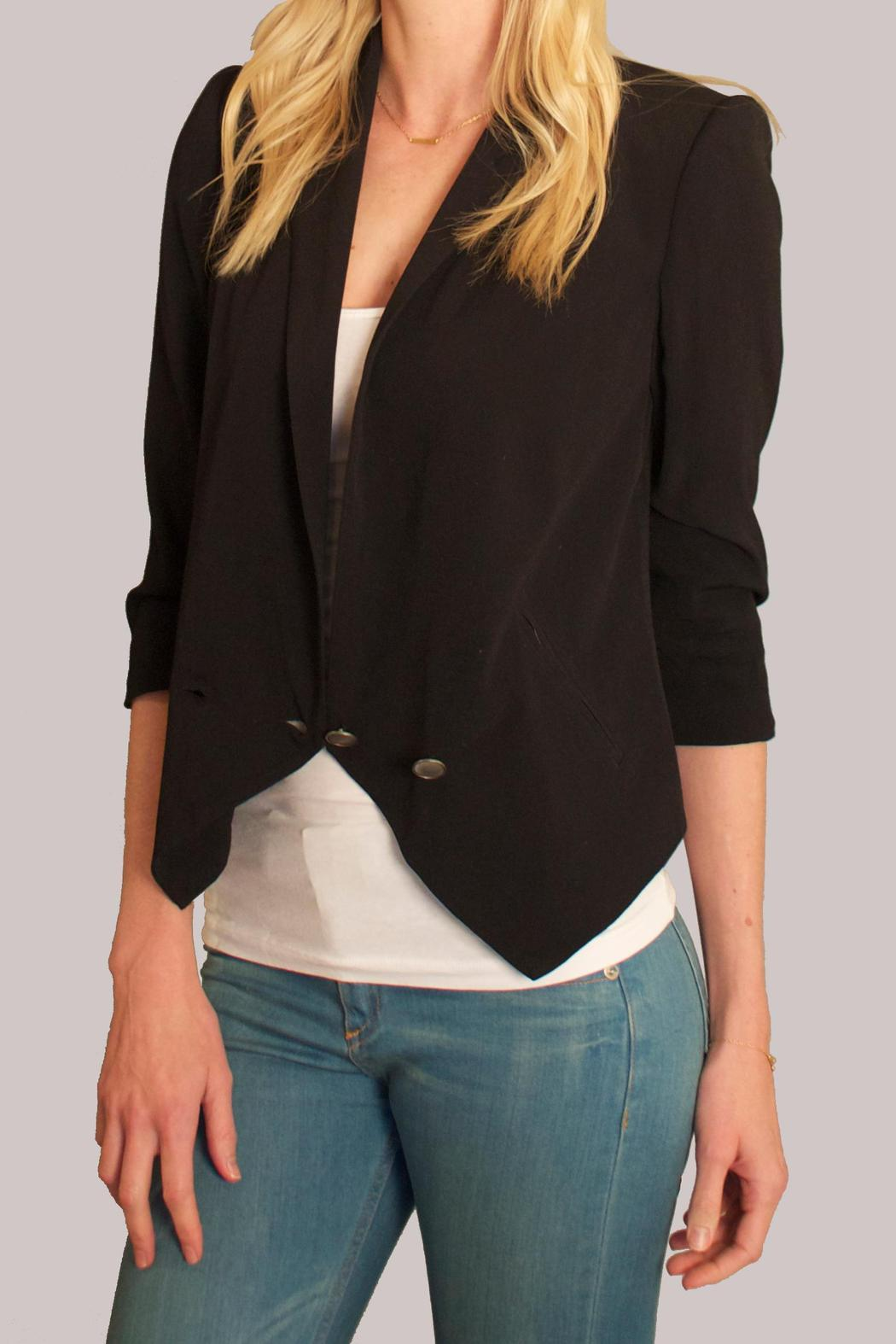 Cynthia Vincent Shawl Collar Blazer - Side Cropped Image