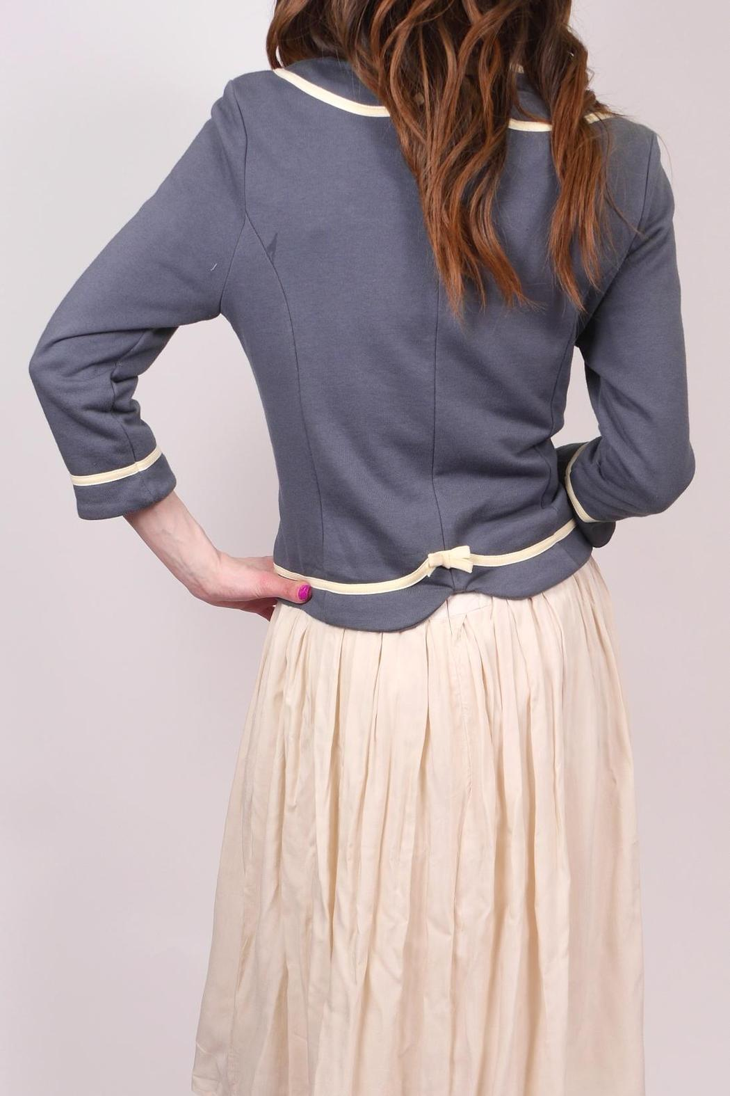 Knitted Dove Bow Pocket Jacket - Side Cropped Image