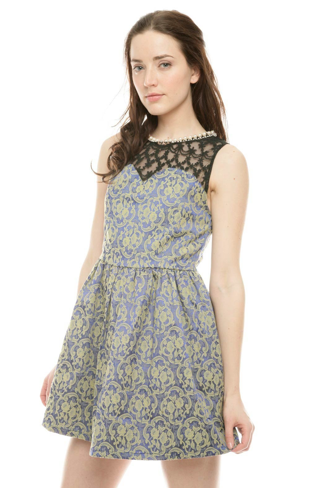 Gracia Pearl Floral Dress - Side Cropped Image