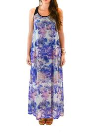 Black Swan Floral Maxi Dress - Product Mini Image