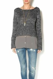 Uldahl Faux-layered Sweater - Product Mini Image