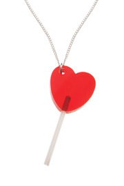 Tatty Devine Silver Lollypop Necklace - Front cropped