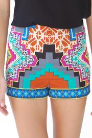 Flying Tomato Kaleidoscope Print Shorts - Product Mini Image