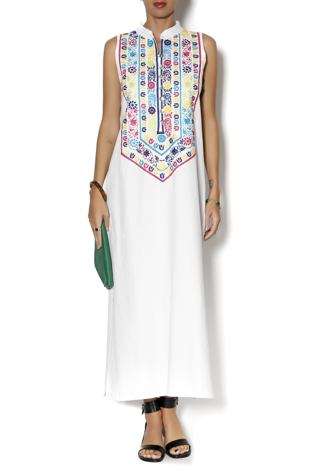 Nativa Mexican Embroidered Dress - Main Image