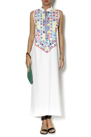 Nativa Mexican Embroidered Dress - Product Mini Image