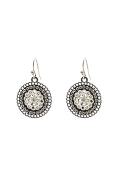 Marlyn Schiff Crystal Disc Earrings - Alternate List Image