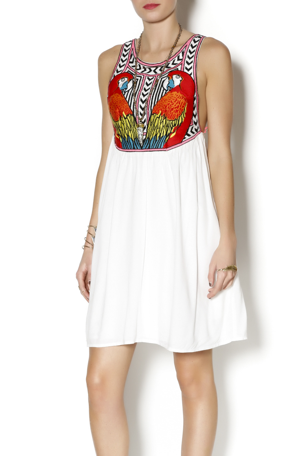 Mara Hoffman Embroidered Swing Dress - Front Cropped Image