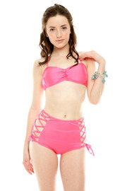 Shoptiques Product: Lace Up High-Waisted Bikini